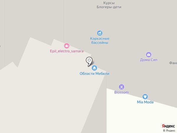 Области мебели на карте Самары