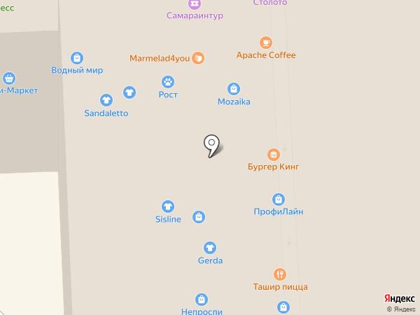 Центральное агентство воздушных сообщений на карте Самары