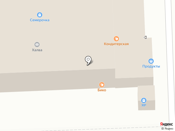 Магазин кондитерских изделий на карте Самары