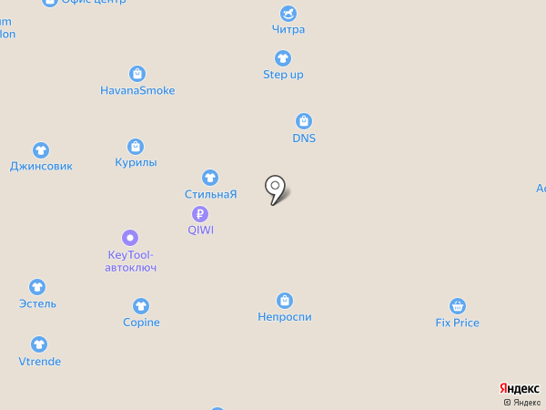 Cassettone на карте Самары