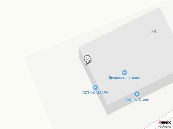 ЛСТК-САМАРА на карте Самары