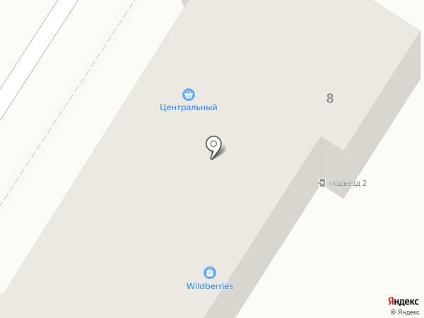 Центральный на карте Новосемейкино