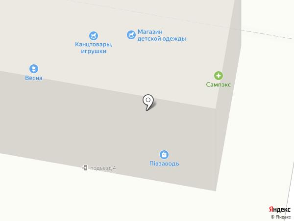 Сампэкс на карте Петры Дубравы