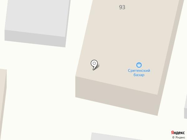 Сретенский базар на карте Красного Яра