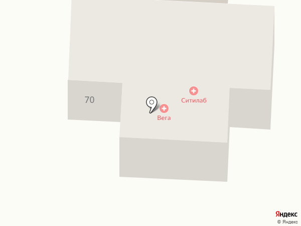 Вега на карте Красного Яра