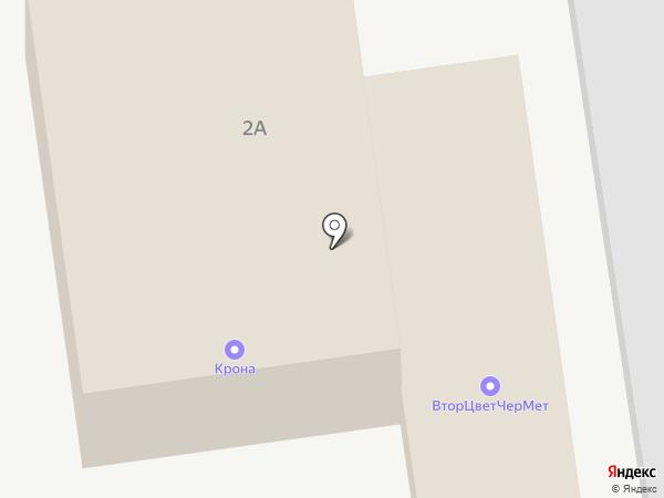 КРОНА на карте Красного Яра