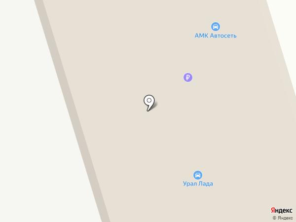 Урал-Лада на карте Красного Яра