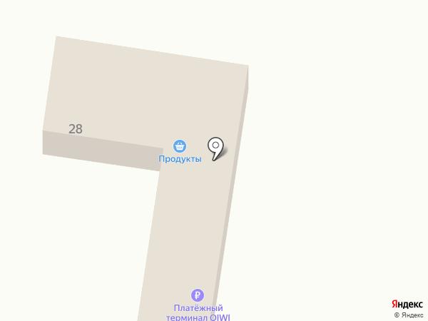 Магазин продуктов на карте Алексеевки