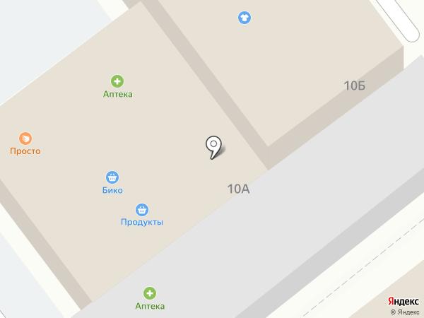 Магазин продуктов на Невской на карте Алексеевки