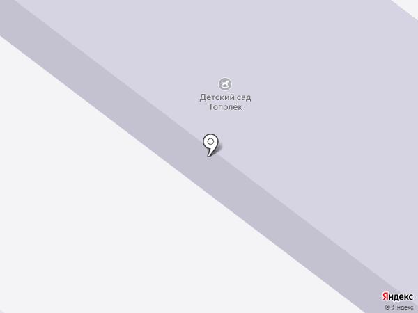 Тополек на карте Алексеевки