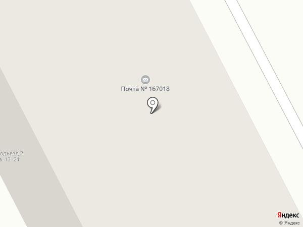 Почтовое отделение №18 на карте Сыктывкара
