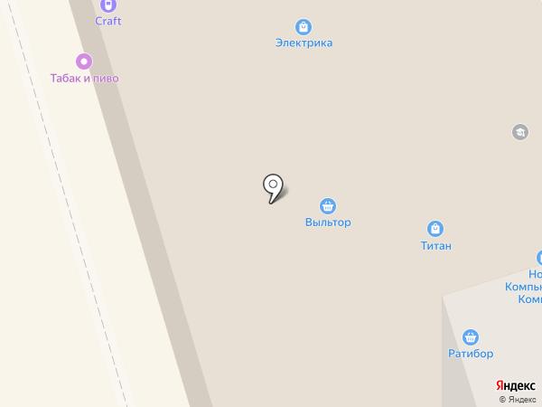 Ратибор на карте Сыктывкара