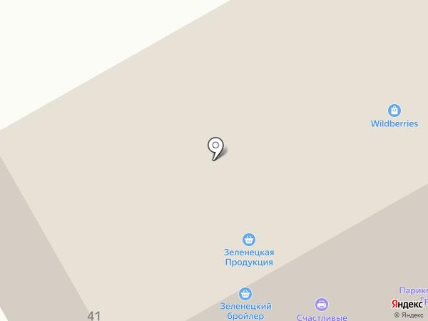 Зеленецкая на карте Выльгорта
