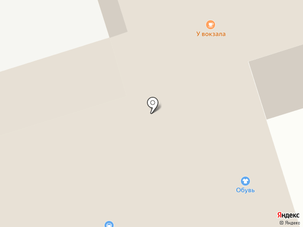У вокзала на карте Сыктывкара