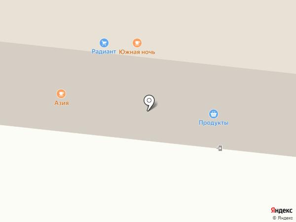 Южная Ночь на карте Сыктывкара
