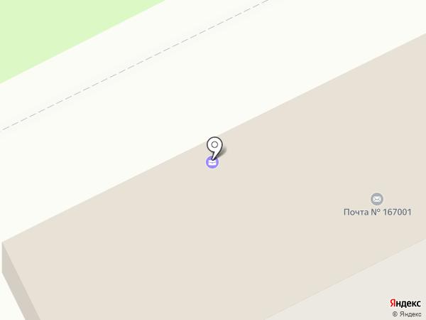 Почтовое отделение №1 на карте Сыктывкара