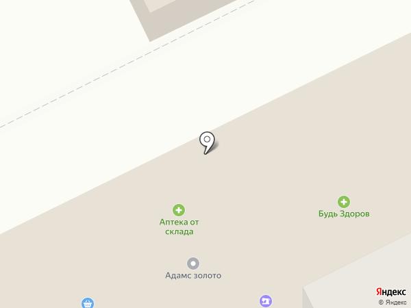 Аптека от склада на карте Сыктывкара