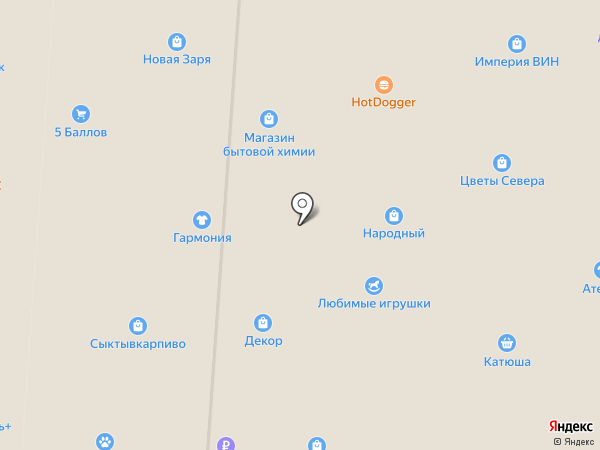 Магазин мясных продуктов на карте Сыктывкара