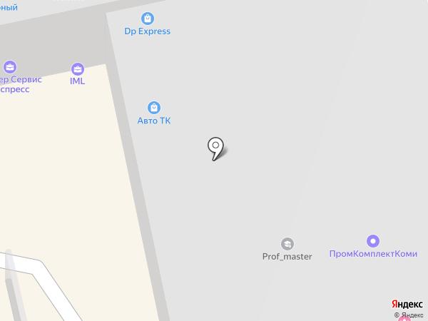 Автоправо на карте Сыктывкара