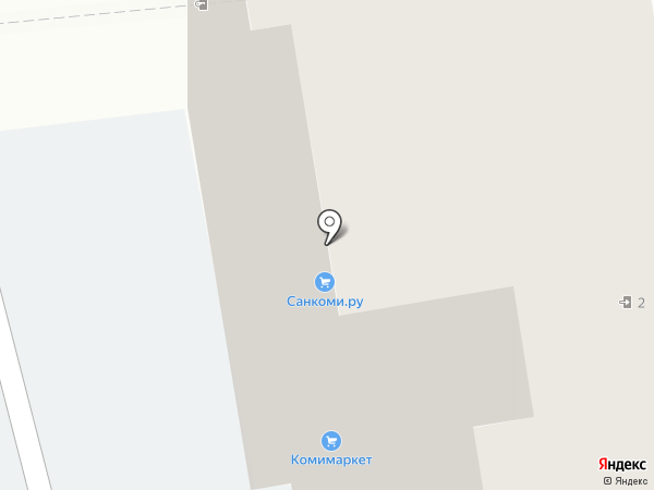 Фридом на карте Сыктывкара