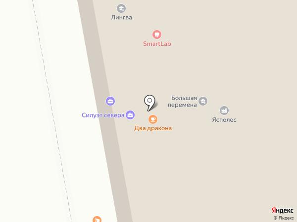 СИЛУЭТ СЕВЕРА на карте Сыктывкара