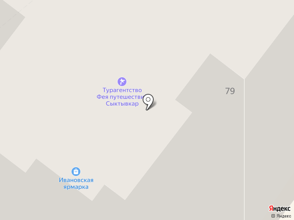 Спутник-Коми на карте Сыктывкара