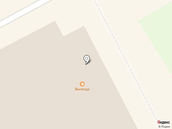 Вычегда на карте Сыктывкара