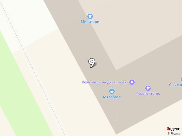 Лакомка на карте Сыктывкара