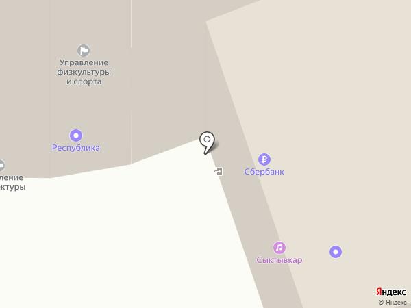 Восторг на карте Сыктывкара