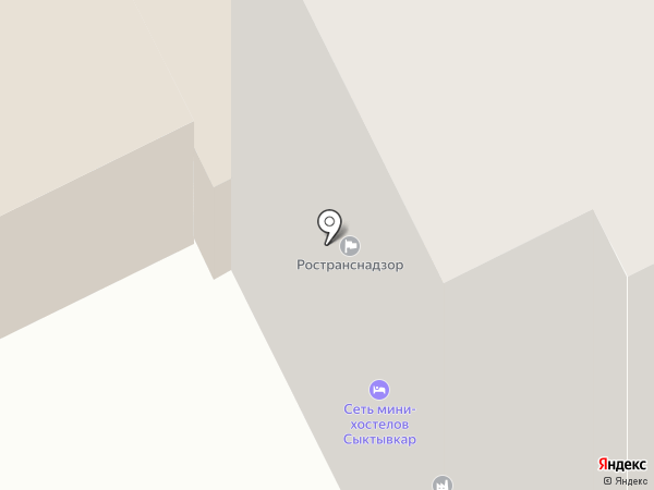 Управление государственного автодорожного надзора по Республике Коми на карте Сыктывкара