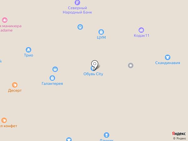 Магазин детских товаров на карте Сыктывкара