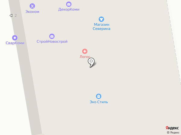 Persona на карте Сыктывкара