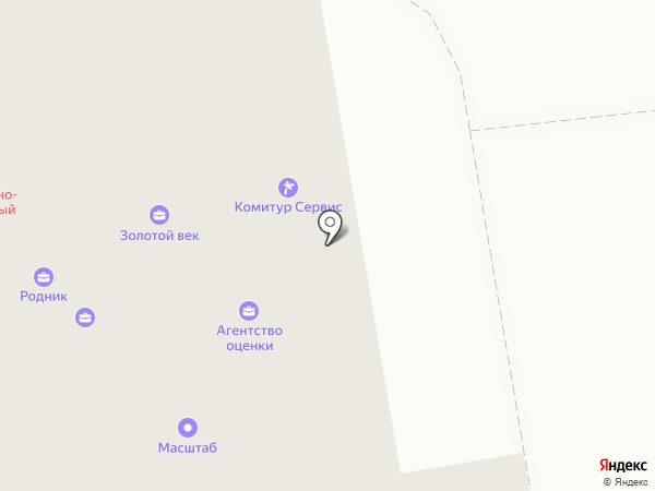 Травертин-Коми на карте Сыктывкара