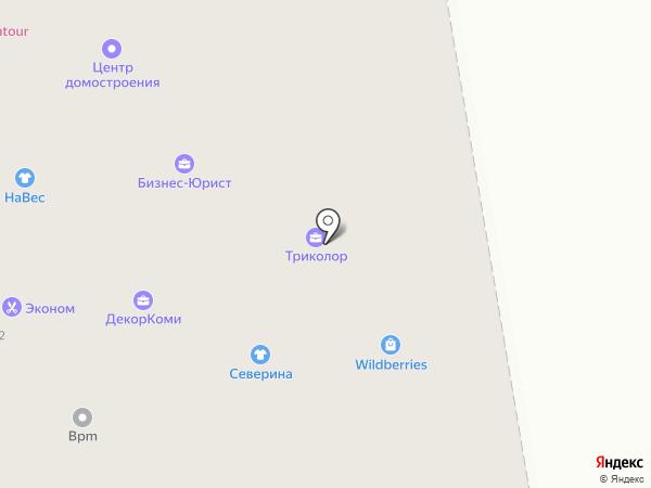 Юничел на карте Сыктывкара
