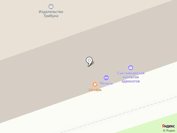 Пелысь на карте Сыктывкара