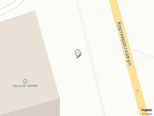 Почтовое отделение №9 на карте Сыктывкара