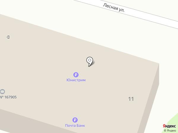 Магазин продуктов на карте Сыктывкара