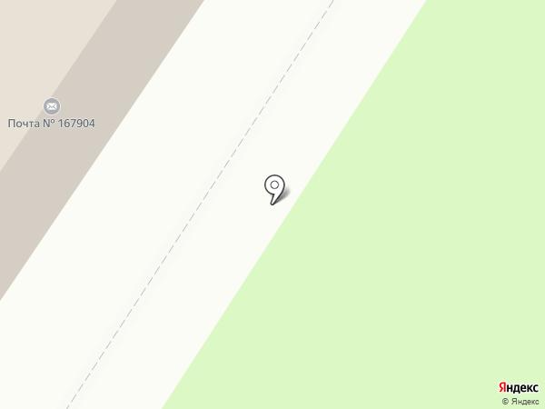 Почтовое отделение на карте Сыктывкара