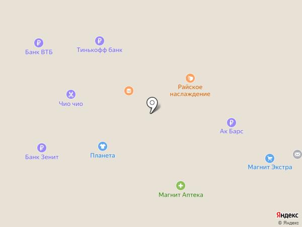 Суши на карте Нижнекамска