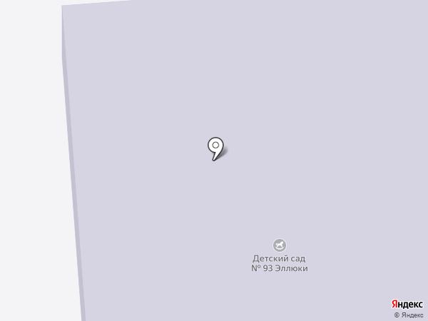 Детский сад №93, Эллюки на карте Нижнекамска