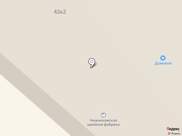 Нижнекамская швейная фабрика на карте Нижнекамска