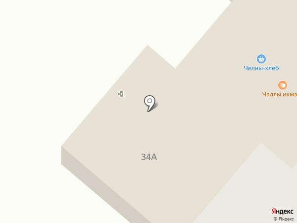 Челны-Хлеб на карте Нижнекамска
