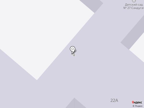 Детский сад №27, Сандугач на карте Нижнекамска