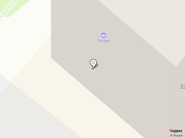 Тетрис на карте Нижнекамска