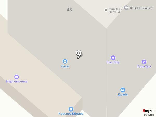 Драйв на карте Нижнекамска