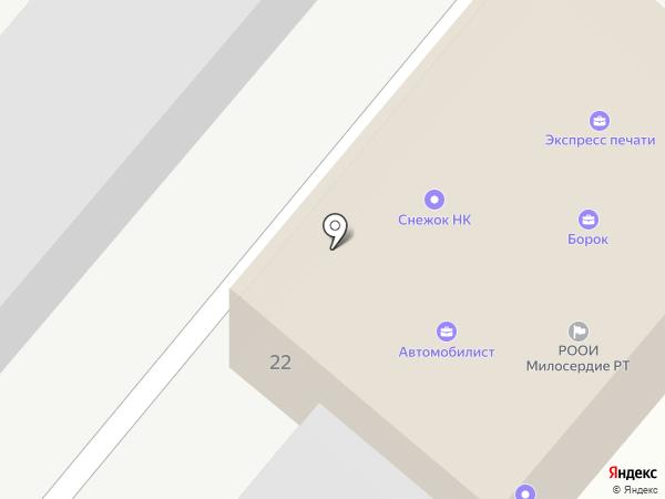 Автомобилист на карте Нижнекамска