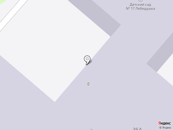 Детский сад №17, Лебедушка на карте Нижнекамска