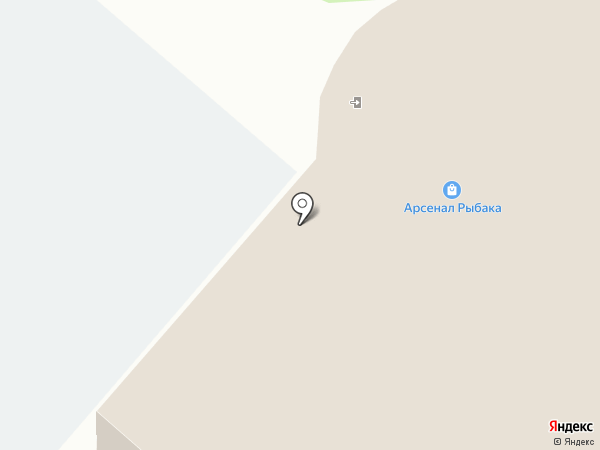 Арсенал Рыбака на карте Нижнекамска