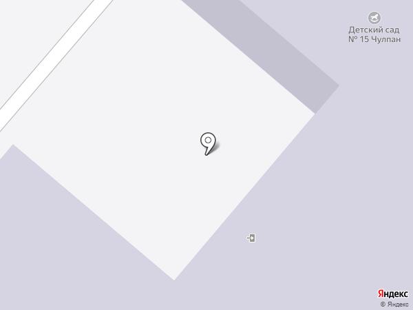 Детский сад №15, Чулпан на карте Нижнекамска