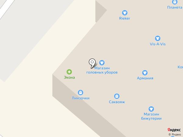 Объедение на карте Нижнекамска